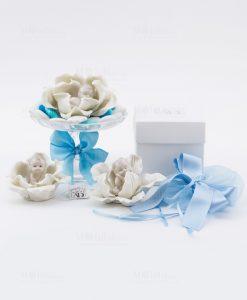 bimbo che dorme porcellana vari modelli linea baby flower con scatola e sacchetto ad emozioni