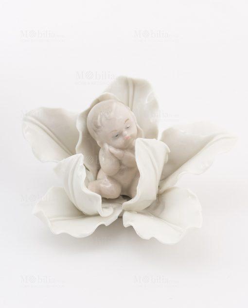 bimbo su fiore porcellana linea baby flower ad emozioni