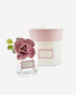 boccetta vetro con fiore porcellana capodimonte linea blush rdm design