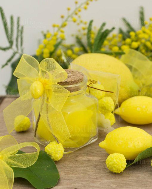 bomboniera barattolo vetro saponetta limone
