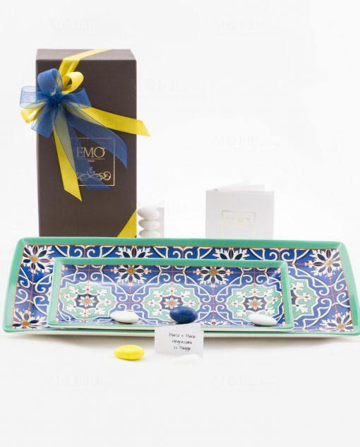 bomboniera basi svuotatasche art collection linea azulejos due misure emò