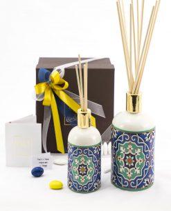 bomboniera basic bottiglia profumatore due misure art collection linea azulejos emò