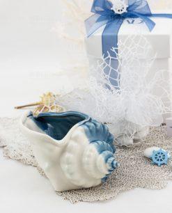 bomboniera basic conchiglia piccola con scatola e sacchetto linea oceano ad emozioni