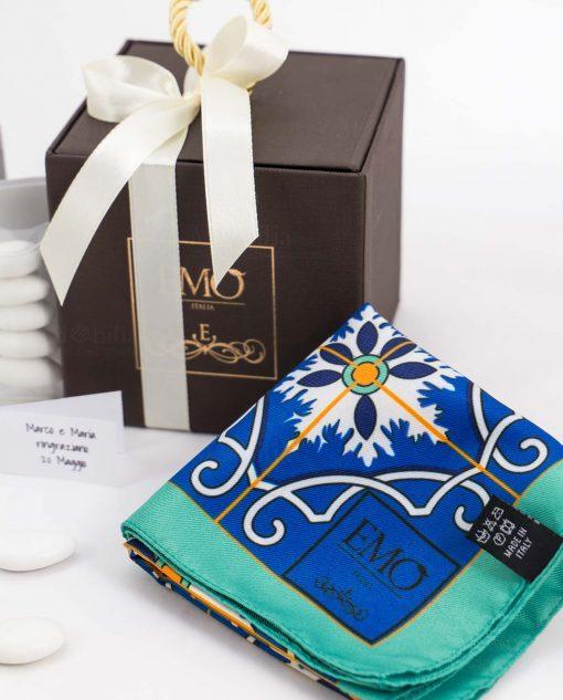 bomboniera basic foulard con tubicino art collection azalejos emò italia