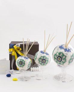 bomboniera basic profumatore mappamondo con bastoncini varie misure art collection linea azulejos emò
