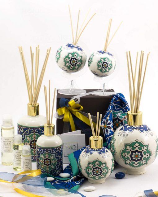 bomboniera basic profumatori varie forme e misure con profumo art collection linea azulejos emò