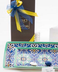 bomboniera basic svuotatasche due misure linea azulejos art collection emò