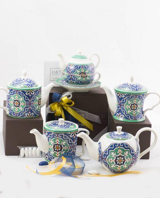 bomboniera basic teiera art collection varie forme linea azulejos emò
