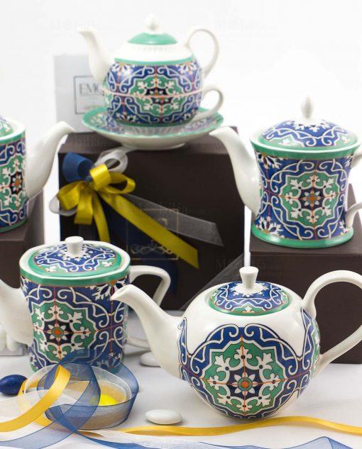 bomboniera basic teiera varie forme art collection linea azulejos emò