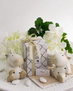 bomboniera basic unicorno porcellana due modelli