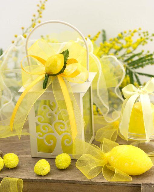 bomboniera lanterna albero della vita con saponetta e limone piccolo