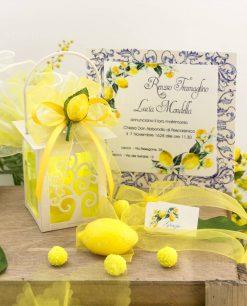 bomboniera lanterna albero della vita con saponetta limone e applicazione limone