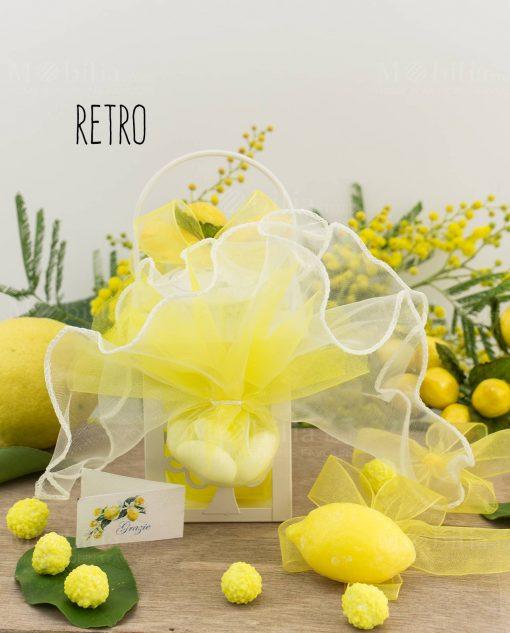 bomboniera lanterna albero della vita led con sapoentta limone retro