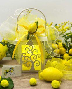bomboniera lanterna led albero della vita con saponetta limone e applicazione