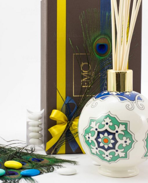 bomboniera lusso profumatore con stampa art collection linea azulejos emò