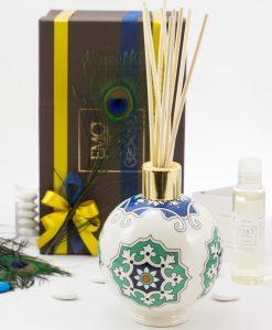 bomboniera lusso profumatore grandecon bastoncini e profumo art collection linea azulejos emò