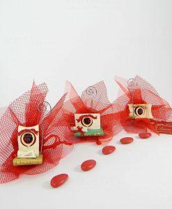 bomboniera portamemo tre modeli tocco e libro con sacchetto rete rosso
