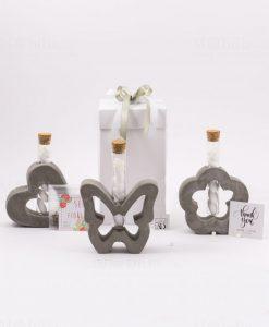 bomboniera vasetto con ampollina vetro e confetti con semi fiori varie forme linea cresci lamore ad emozioni