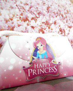 borsetta rosa con immagine principessa di cartoncino