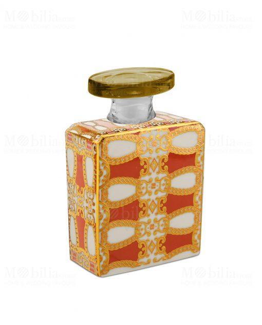 bottiglia 240 ml quadrata linea gold modello alanis baci milano