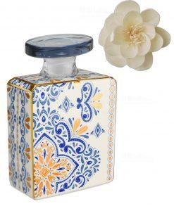 bottiglia 375 ml quadrata linea gold modello gianna con fiore baci milano