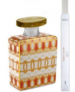 bottiglia magnum 35 lt quadrata linea gold modello alanis con bastoncini baci milano