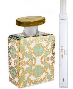 bottiglia magnum 35 lt quadrata linea gold modello patti con bastoncini baci milano