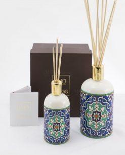 bottiglia profumatore con bastoncini due misure art collection linea azulejos emò