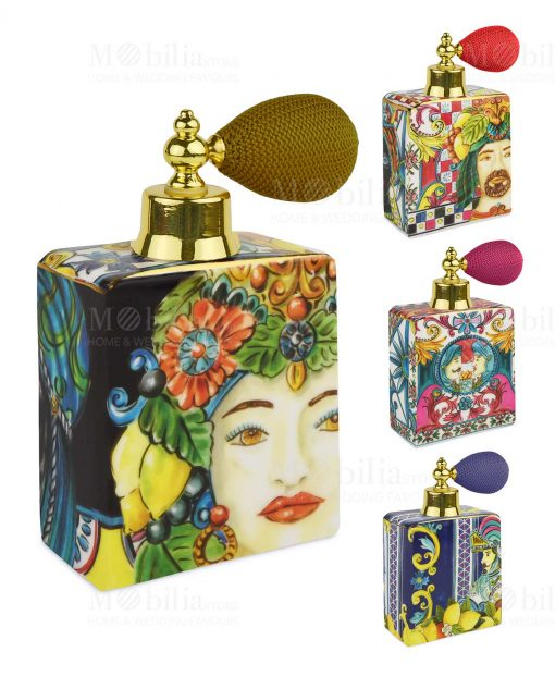 bottiglia profumo spray 240 ml linea baroque and rock sicily baci milano