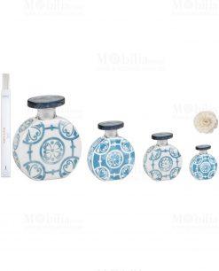 bottiglia rotonda porcellana turchese varie misure baci milano linea sapori e profumi