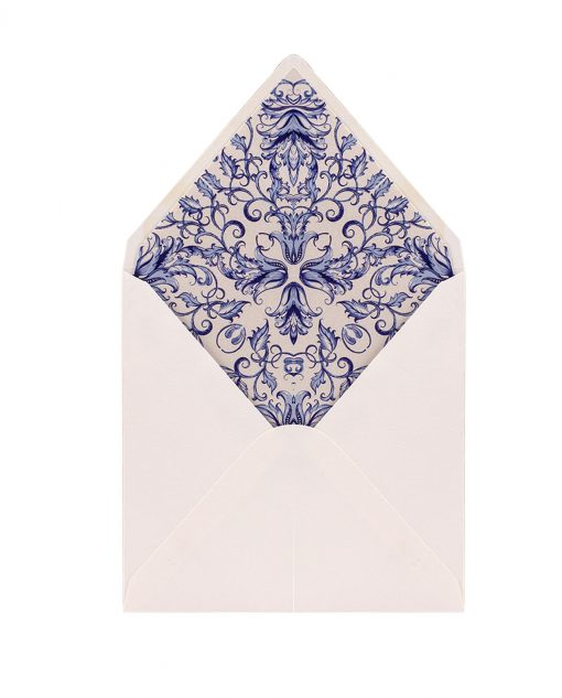 busta partecipazione bianca e blu