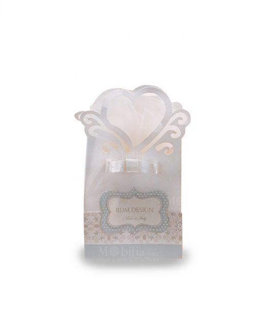 bustina portaconfetti cartoncino con cuore linea sweet memory rdm design