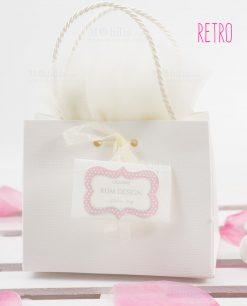 bustina portaconfetti con manici retro linea blush rdm design
