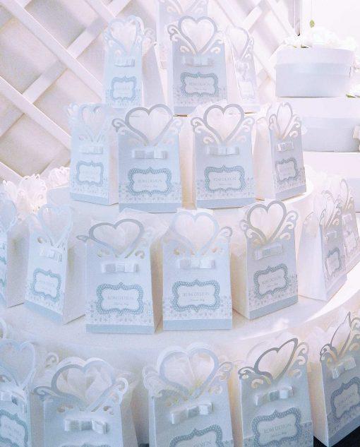 bustine portaconfetti cartoncino con cuore linea sweet memory rdm design