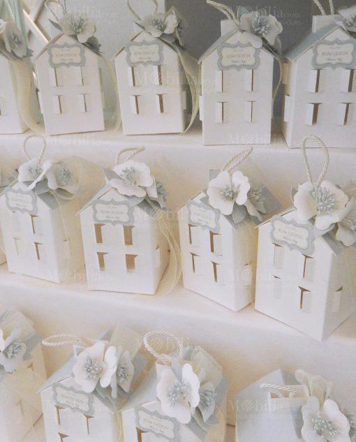 casetta caroncino con luce led con fiori carta linea sweet memory rdm design