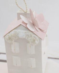 casetta led cartoncino con tetto rosa linea forever rdm design