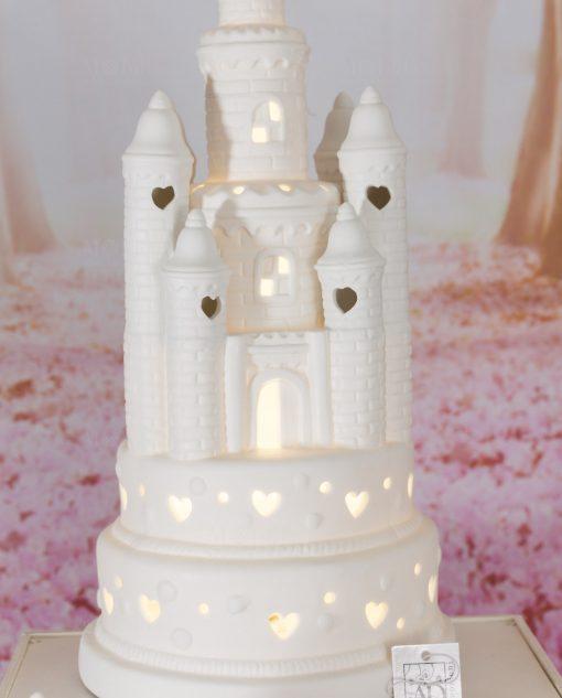 castello grande porcellana con luce led linea princess ad emozioni