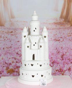 castello led grande porcellana con cuori linea princess ad emozioni