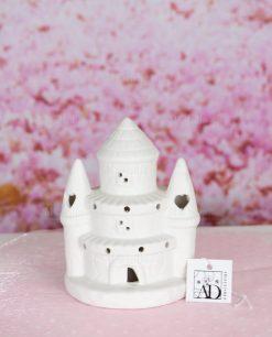 castello led piccolo porcellana con cuori linea princess ad emozioni