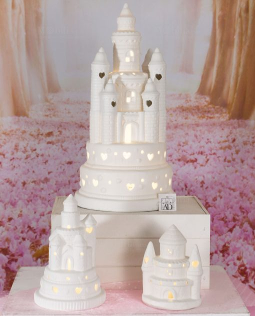 castello led varie misure porcellana bianca linea princess ad emozioni