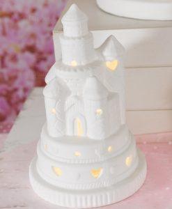 castello medio porcellana con luce led linea princess ad emozioni