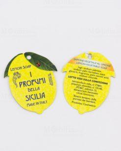 certificato autenticità i profumi di sicilia ingredienti a forma di limone