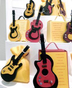 chitarre su portaconfetti linea music rdm design