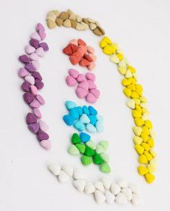 confetti smarties cuoricini vari colori sfumati maxtris