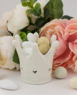 corona porcellana con confetti linfinito