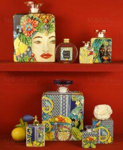 diffusori di fragrana blu e gold con profumo linea baroque and rock sicily baci milano