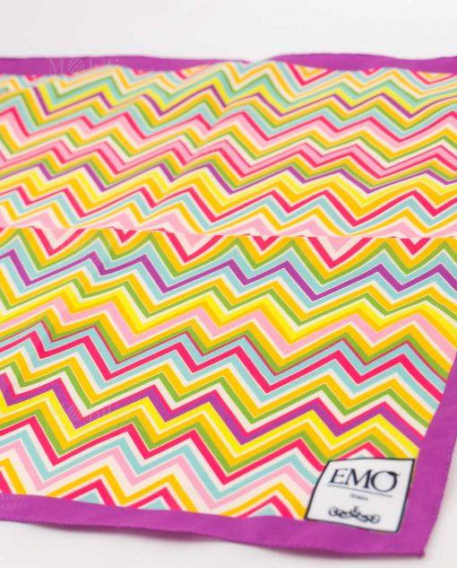 foulard a righe colorate art collectionn linea optical emò italia