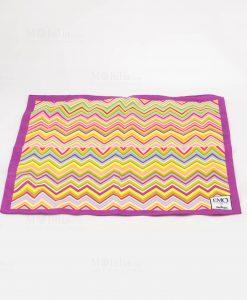 foulard con bordo viola art collection linea optical emò italia
