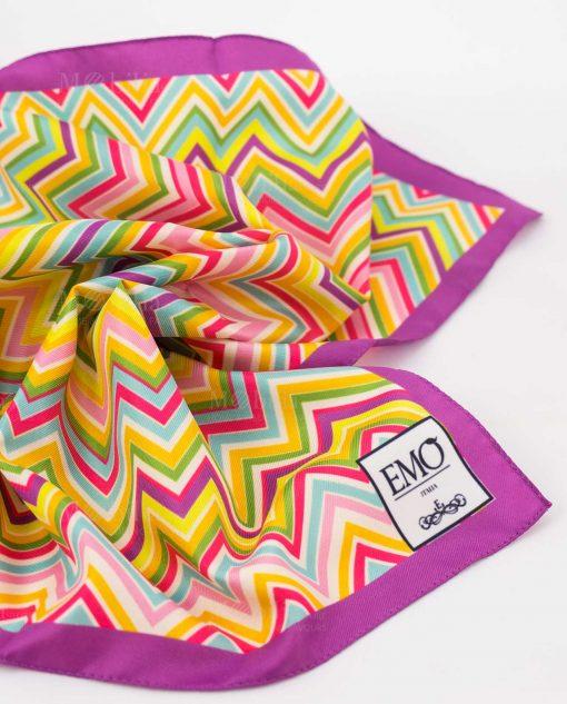 foulard con righe a zig zag art collection linea optical emò italia