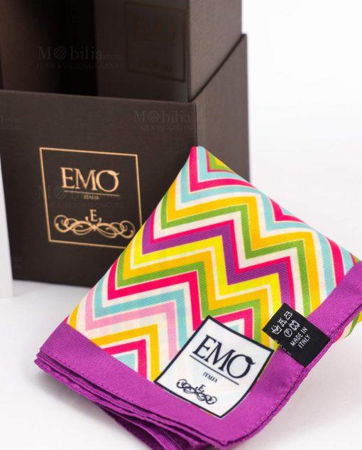 foulard con scatola art collection linea optical emò italia